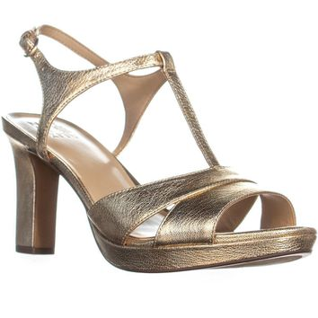 naturalizer Finn Ankle Strap Heeled Sandals, Platino, 8 W US