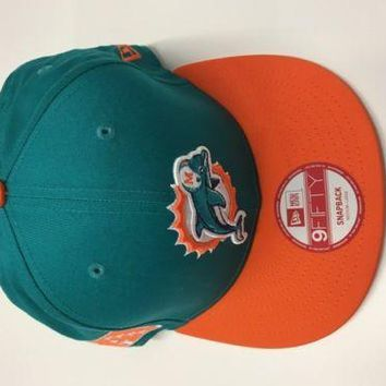 New Era Hat Cap NFL Football Miami Dolphins BayChik Snapback Hat Adj 2012
