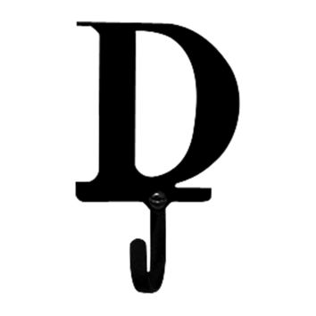 Wrought Iron Letter D Wall Hook Small