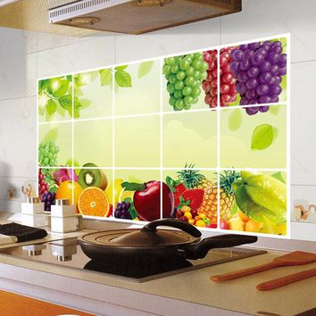 Oilproof Removable Wall Sticker Creative Kitchen Cartoon Cabinet Fashion Refrigerator Restaurant Wall Decorative Art Home Decals