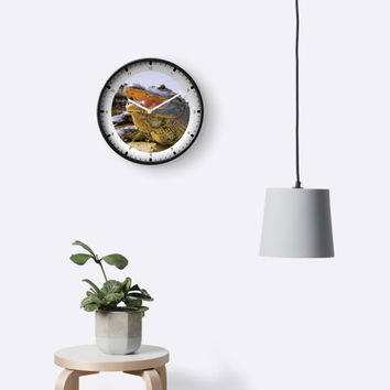 'Face to face' Clock by Zina Stromberg