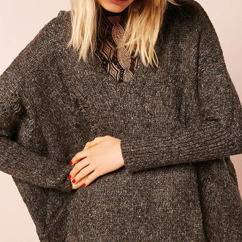 Marled Hooded Sweater