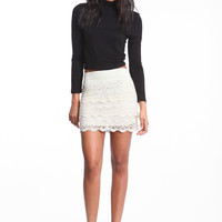 LACY LAYERS HIGH WAISTED SKIRT