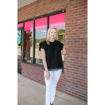 Real World Ruffle Sleeve Top