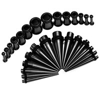 Gauges Kit 28 Pieces Tapers with Plug Tunnels 12G, 10G, 8G, 6G, 4G, 2G, 0G Ear Stretching