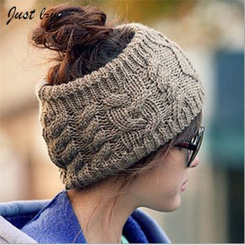 1PC Hot Korean Style Vogue Women Men Unisex Winter Warm Braided Soft Knit Wool Halloween Hat Cap Comfy HairBands  Beanie  Hats