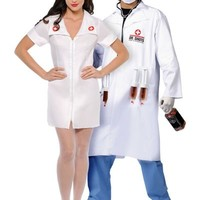 Hospital Honey Nurse and Dr. Shots Doctor Couples Costumes- Party City