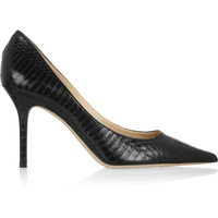 Jimmy Choo - Agnes glossed-elaphe pumps