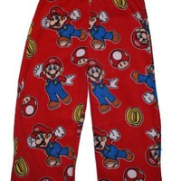 Super Mario Fleece Sleep Pant for Boys