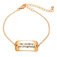 *MKL Accessories The World Is My Playground Bracelet in Rose Gold