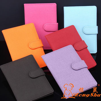 Hot Fomous Brand Women Passport Cover Colorful Soft Travel Passport Holder PU Leather Passport Cover Credit Card Case with Hasp