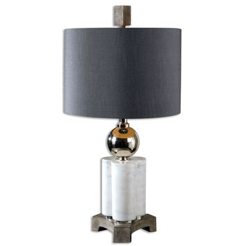 Dantoni White Alabaster Table Lamp by Uttermost