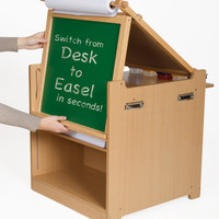 Guidecraft - Desk to Easel Art Cart