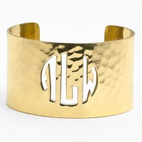 Women's Rustic Cuff Personalized Monogram Cuff