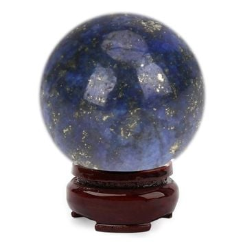 Crystal Sphere 1 Pcs 20 mm Natural Lapis Lazuli Hand Massager Crystal Balls Healing Chakra Reiki Balls Craft Stone Funny Toys