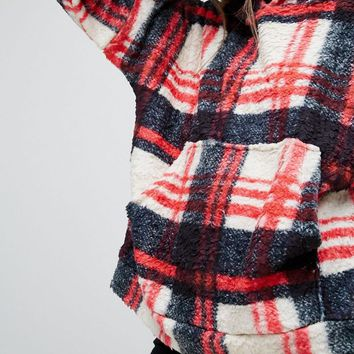 Jaded London X Granted Snuggle Hoodie In Check at asos.com