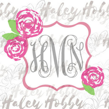 Lilly Southern Monogram SVG DXF Silhouette Digital Download cut file