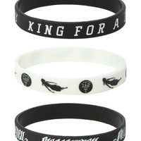 Pierce The Veil King For A Day Rubber Bracelet 3 Pack
