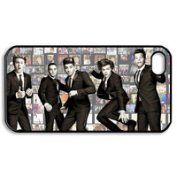 cute One direction boy band iphone 4 4s black or white case