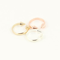 DOUBLE SPIKE TIP RING SET - size 7