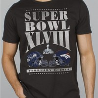 Junk Food Clothing - NFL Super Bowl XLVIII Broncos vs Seahawks Tee - Seattle Seahawks - NFL - Collections - Mens