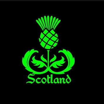 Scottish thistle Scotland thistle decal car decal Scottish decal Celtic Decal Gaelic Decal Highlander Decal Thistle decal window decal