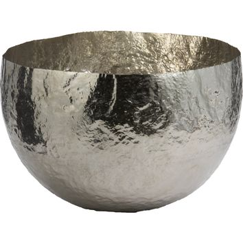 Hammered Nickel-Plated Brass Bowl (Large)
