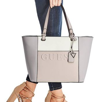 Laken Logo Tote at Guess