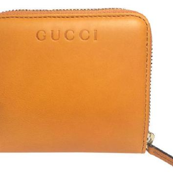 Gucci Soft Leather French Flap Wallet 346056 Marigold Yellow