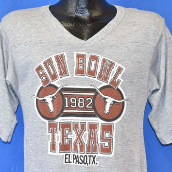 80s Texas Longhorns 1982 Sun Bowl College Football Small t-shirt