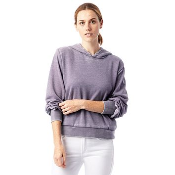 Alternative Apparel - The Claire Burnout French Terry Pullover Lavender Grey Hoodie