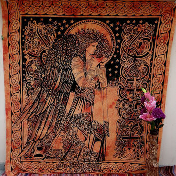 Eve Angel Tapestry, Sun and moon, Mandala, Star Tapestry, Wall Hanging, Wall Decor, Bedspread