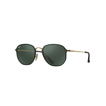 Ray-Ban Men's Blaze Hexagonal Metal Sunglasses, Black