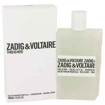 This is Her by Zadig & Voltaire Eau De Parfum Spray 3.4 oz