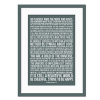 Desiderata by Max Ehrmann - Art Print - Poster for Poetry and Literature Lovers - Inspirational Motivational Art - 12x18 Wall Art Decor