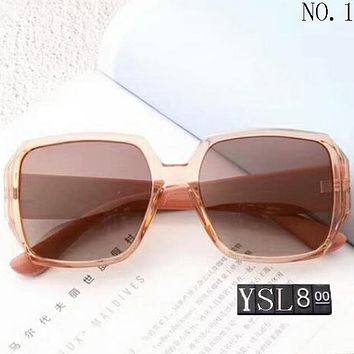 YSL Yves Saint Laurent women's stylish large frame color film polarizing sunglasses F-A-SDYJ NO.1