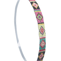 Multicolored Bead Tribal Headwrap | Wet Seal
