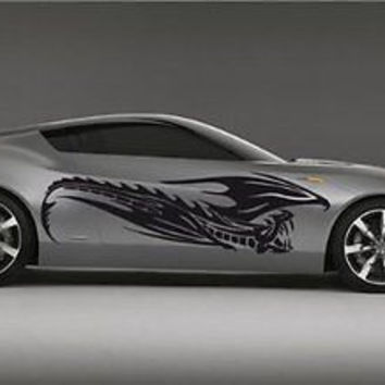 Tribal Dragon Car Vinyl Side Graphics Will Fit any car 62