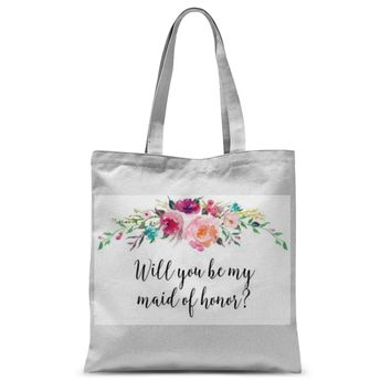 Will You Be My Maid of Honor Proposal Tote Bag