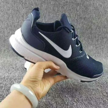 NIKE V3 Casual Sports Shoes running shoes Sneakers Navy blue white hook H-CSXY