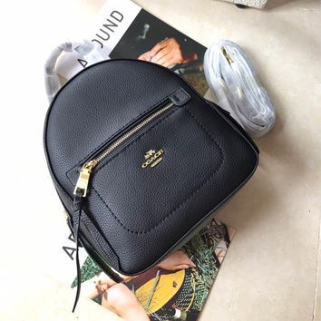 Kuyou Gb89815 Coach Mini Black Grained Leather Backpack 30530 Size 19*23*9cm
