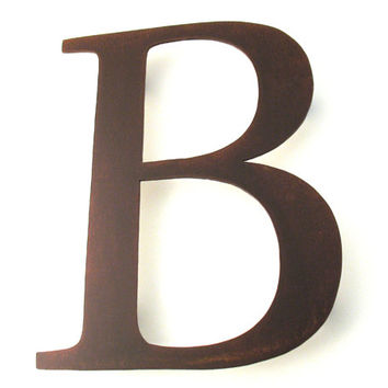 Metal B Sign Letter - Rusty Rustic Wall Art Sculpture Decor