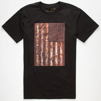 Rvca Saber Flag Mens T-Shirt Black  In Sizes