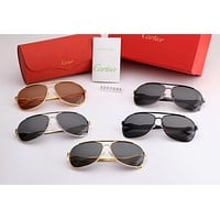 Cartier trend men and women driving driving large frame polarized sunglasses