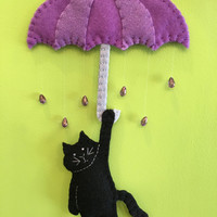 Felt PurpleRainCat Ornament