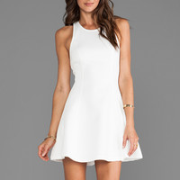 Bardot Scuba Skater Dress in White from REVOLVEclothing.com
