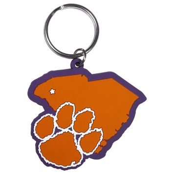 Clemson Tigers Home State Flexi Key Chain NCAA Licensed