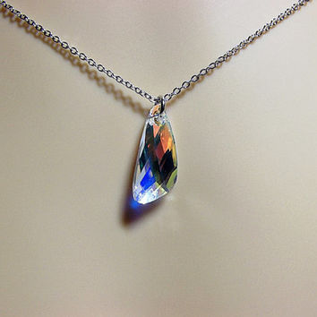 Swarovski Angel Wing Crystal  Necklace, Christmas Gift, Mom Sister Grandmother Jewelry Gift, Bridesmaid, Girlfriend