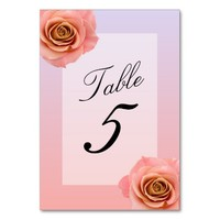 Ombre Floral Table Cards