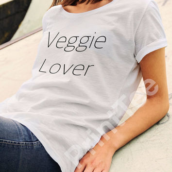 Edgy Veggie T-Shirt, Tee Veggie, lover ,Tee Vegan, T-Shirts Vegan, Clothing Vegan, Shirt Vegetarian, Animal Rights, Vegan Top Black White